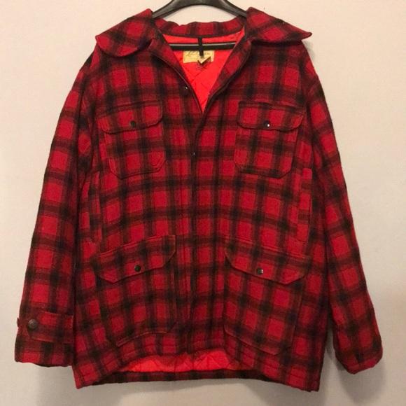 bdfaad0ab516d L.L. Bean Jackets & Coats | Vintage Llbean Buffalo Plaid Wool ...